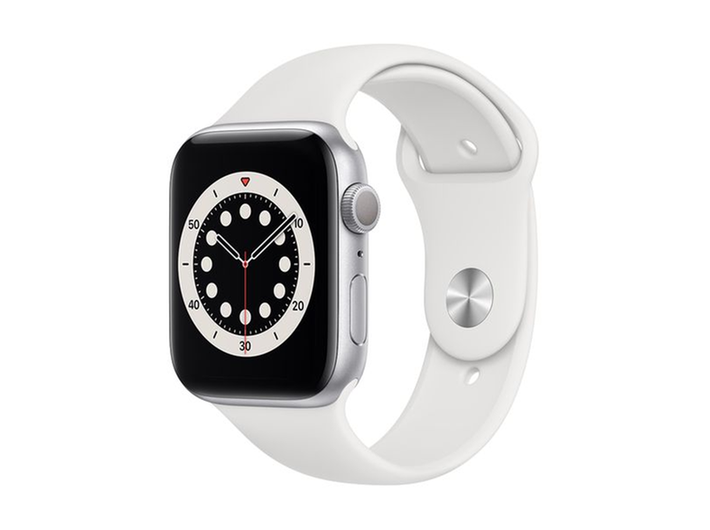 APPLE Watch Series 6 44mm Silver White Sportband