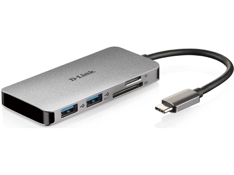 D-LINK DUB-M610 6-in-1 USB-C Hub with HDMI/Card Reader/Power Delivery