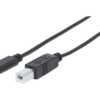 MANHATTAN USB 2.0 Type-C Device Cable Type-C Male to Type-B Male 2m Black