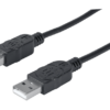MANHATTAN USB 2.0 Device Cable Type-A Male to Type-B Male 1m Black