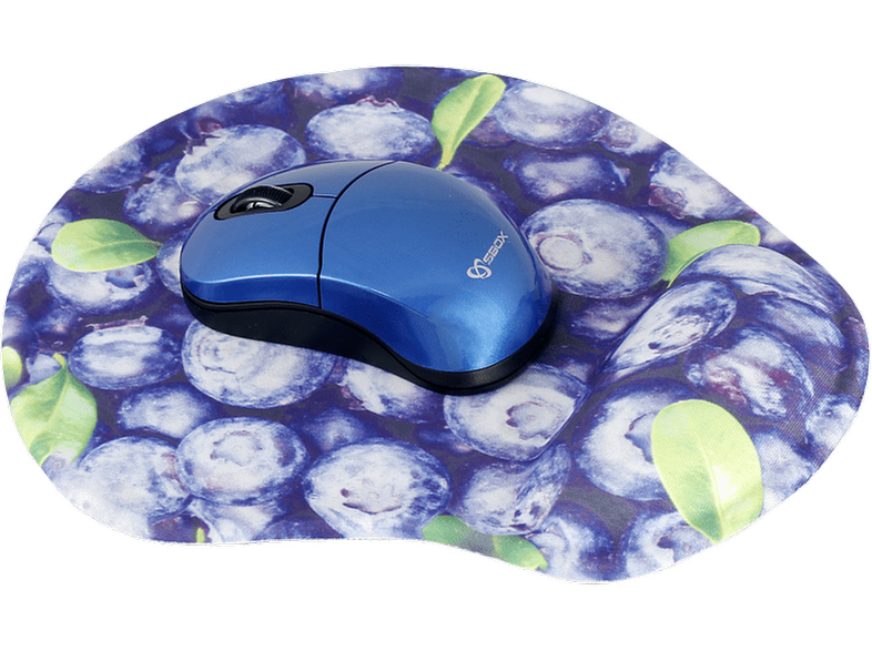 SBOX WM-206 Wireless Mouse with Mousepad Blue