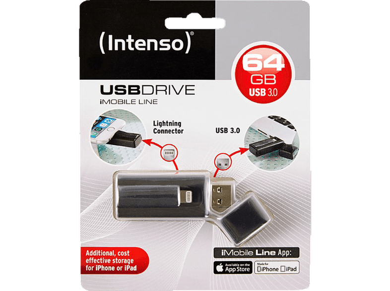 INTENSO iMobile Line USB Drive 64GB USB3.0 Lightning