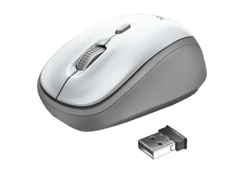 TRUST Yvi Wireless Mouse White   Be Online